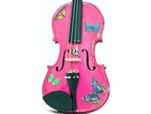 Childrens Violins | Pink Butterfly Violin