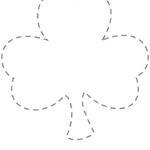 Shamrock Coloring Pages (Right click images to save or print)